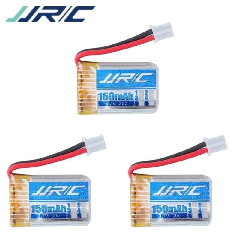 3 unids/lote para JJRC H36 3,7 V 150mAh Lipo batería para H36 H67 F37 3,7 v Li-po batería RC Quadcopter piezas accesorios de Juguetes