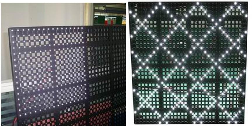 P25 mesh curtain display 2