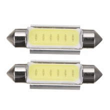 Mayitr 2pcs 41mm COB LED Canbus Car Festoon Dome Interior Light License Plate Reading Trunk Lamp