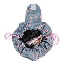 Фламинго макияж органайзеры для хранения сумки уход за кожей для женщин косметический Jewel Drawstring коробка дома ванная ко