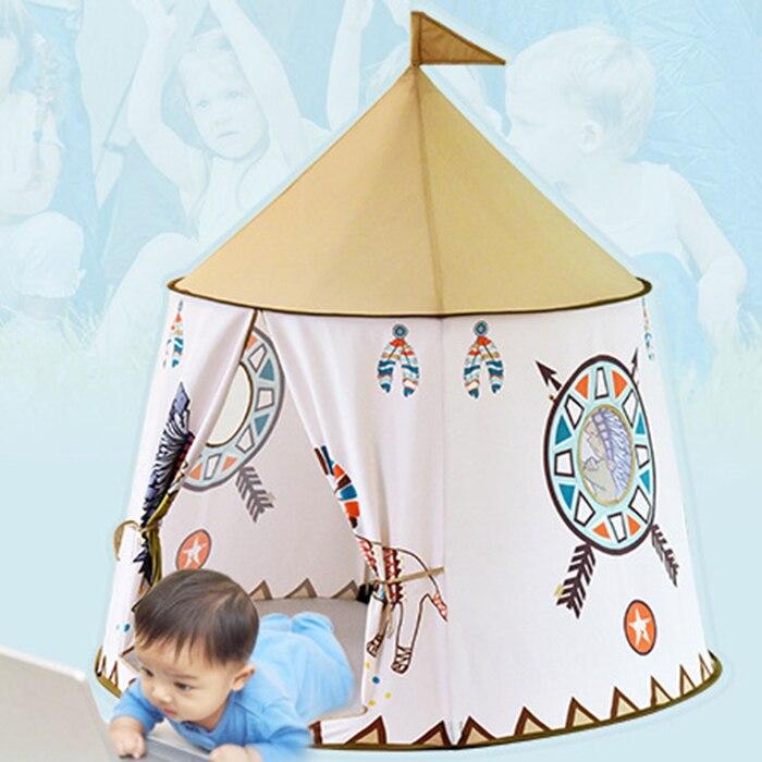 Petit Lion indien tente intérieure et extérieure bébé jouet enfant Playhouse facile à mettre en place et Pop Up enfant tente