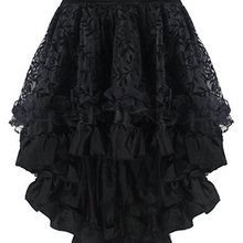 e27f3f01b0 Las mujeres gótico encaje cintura elástica sirena trompeta falda corsé falda  Burlesque asimétrico Bustier faldas Set