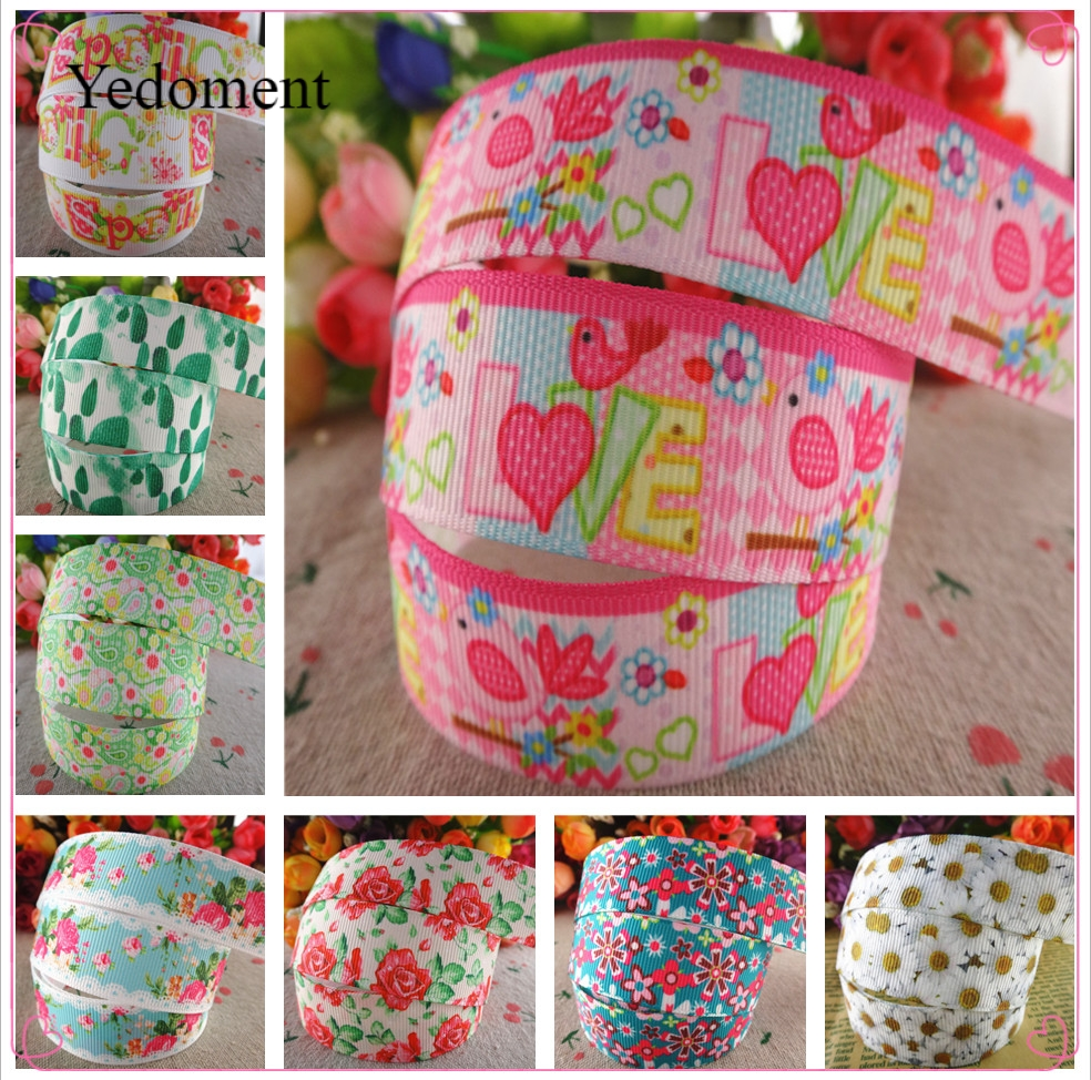 """7//8/""""22mm Red Hearts Printed Grosgrain Ribbon Hairbow Craft Handmade"""