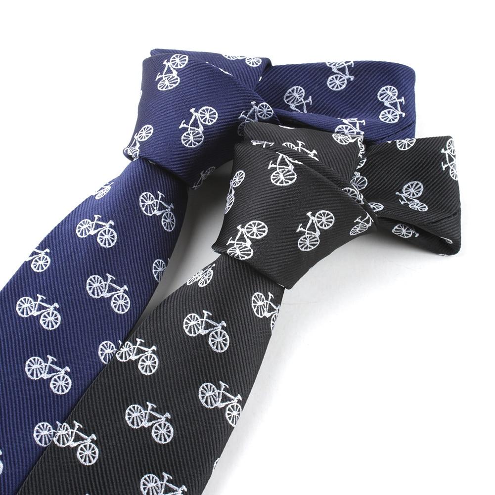 Polyester Men Blue Ties  Bike Skinny Men Neck Ties Fashion Men's Narrow  Necktie