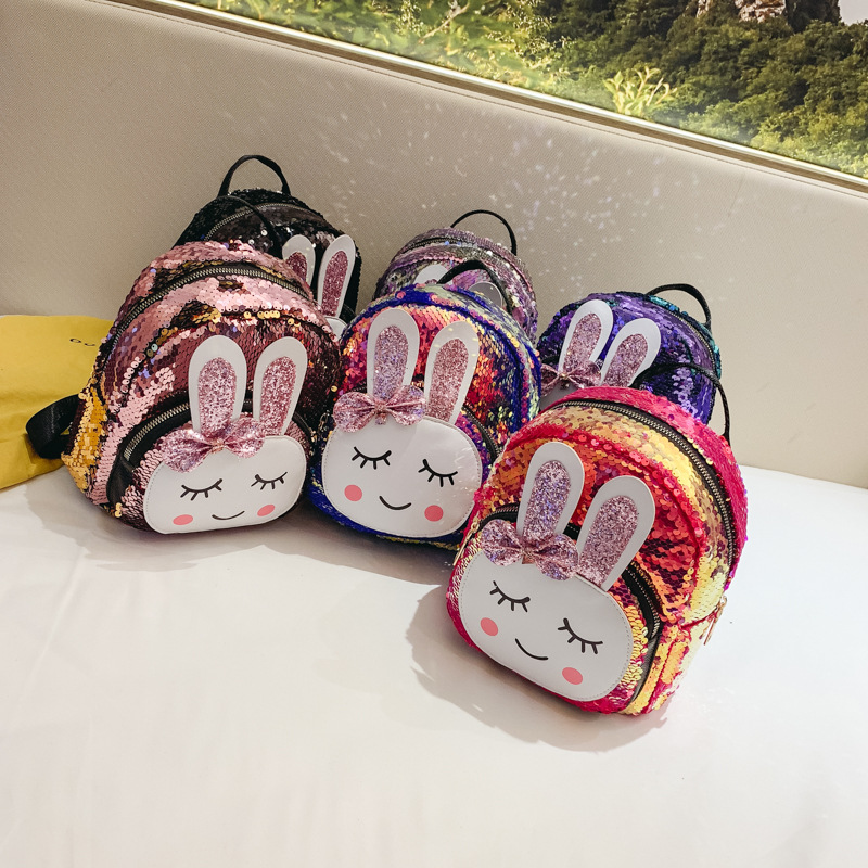 Sequins Bunny Backpack Kid Baby Girl Bags Kindergarten Schoolbag Cute Kids Easter Gift Bag Cartoon Childrens BackpackSequins Bunny Backpack Kid Baby Girl Bags Kindergarten Schoolbag Cute Kids Easter Gift Bag Cartoon Childrens Backpack