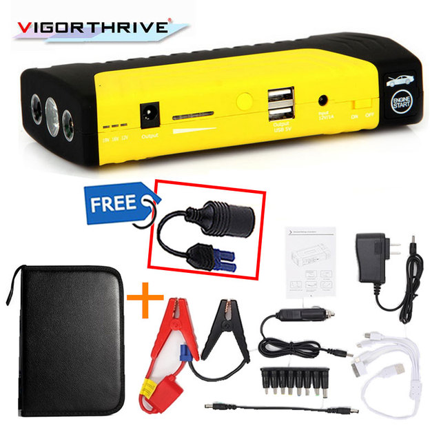 Car Charger Mini Emergency 12V  Car Jump Starter Power Bank Portable Starting Device Petrol DieselFor Car Battery Booster 600A