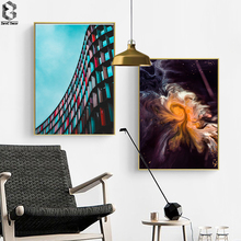 цены на Modern Building Wall Art Canvas Painting Abstract Posters And Prints Wall Pictures For Living Room Decor  в интернет-магазинах