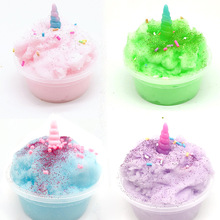 DIY Clear Toy Crystaling Mud Fluffy Slimes Brushed Unicorned Color Cloud Magic Sand Antistress Putty Claying Toys For Chid