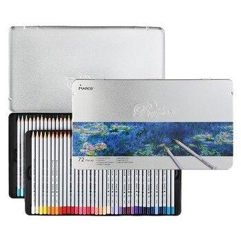 MARCO 7100 Prismacolor Lápis De Cor De Madeira caixa de Ferro Óleo 72 Profissionais lápis de Desenho Esboço Arte Para Material Escolar