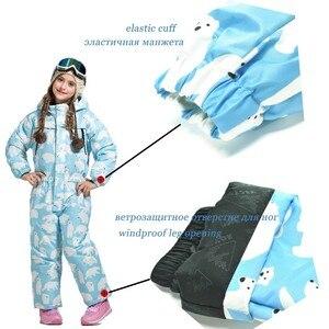 Image 3 - ベクトル暖かい子供スキーフード付きスーツスノーボード全体合成雪の冬の屋外防水防風少年少女スキー服
