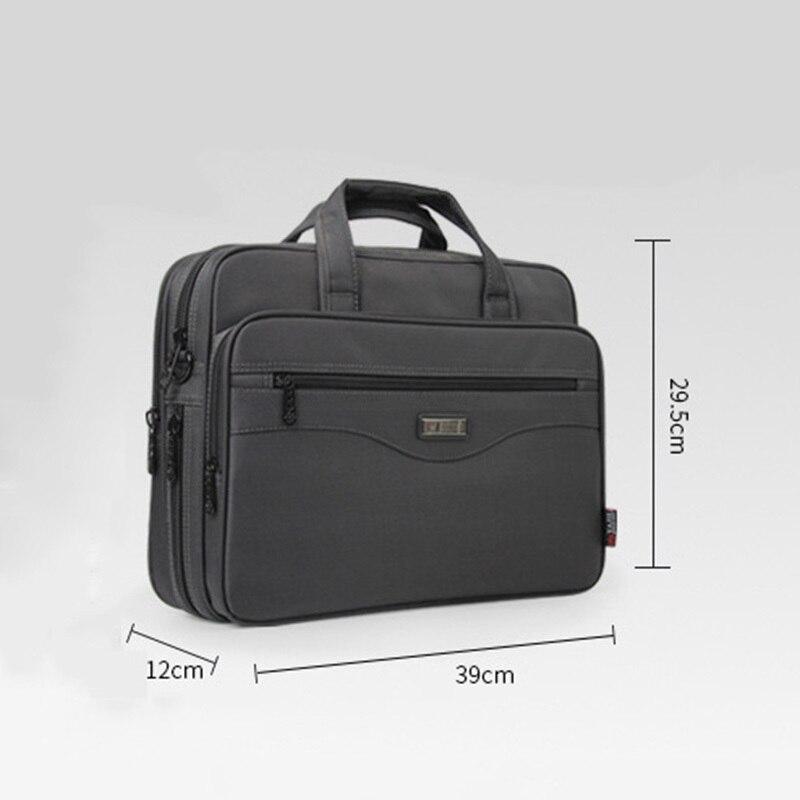 Hommes sacs pour ordinateur portable multifonction mallette étanche sacs à main hommes d'affaires ordinateur épaule travail paquet pour Macbook Air Dell HP - 3