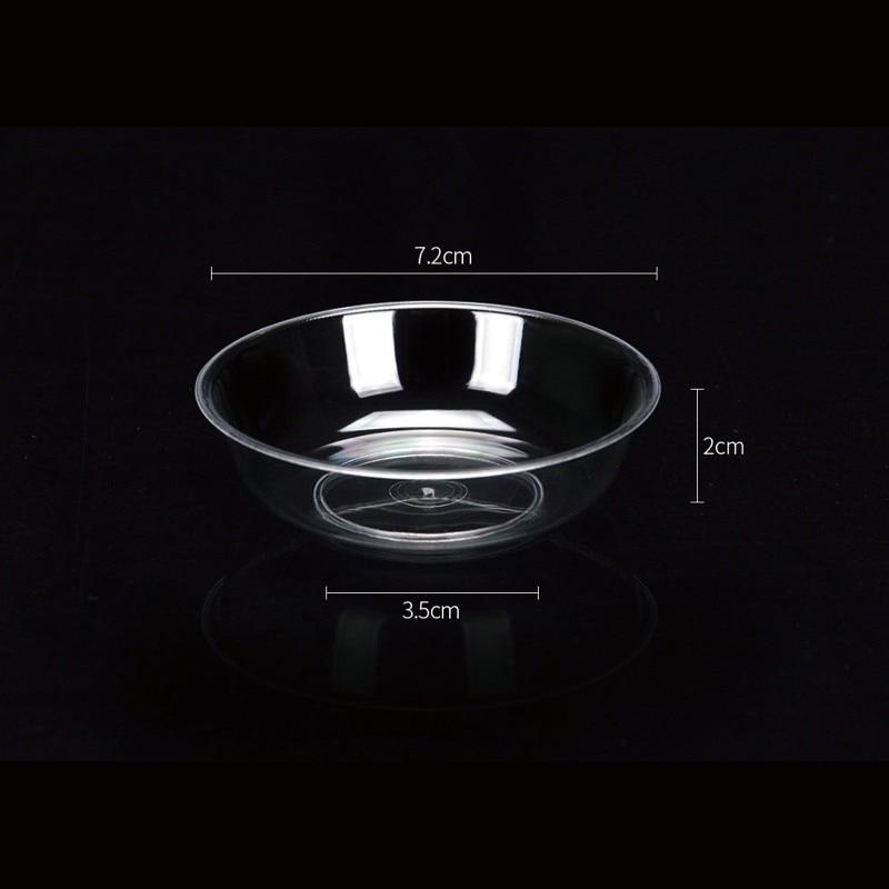 400 PCS Small Plastic Plate Transparent Disposable Chili Soy Tomato Sauce Seasoning Vinegar Mini