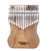 GECKO Professional Kalimba 17 Keys Camphor Wood Thumb Piano For Performance With Instruction Tune Hammer