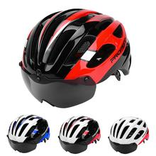 Mounchain Adult Safety Mountain Bike Riding Helmet Integrated Magnetic Glasses Road 57-62 cm