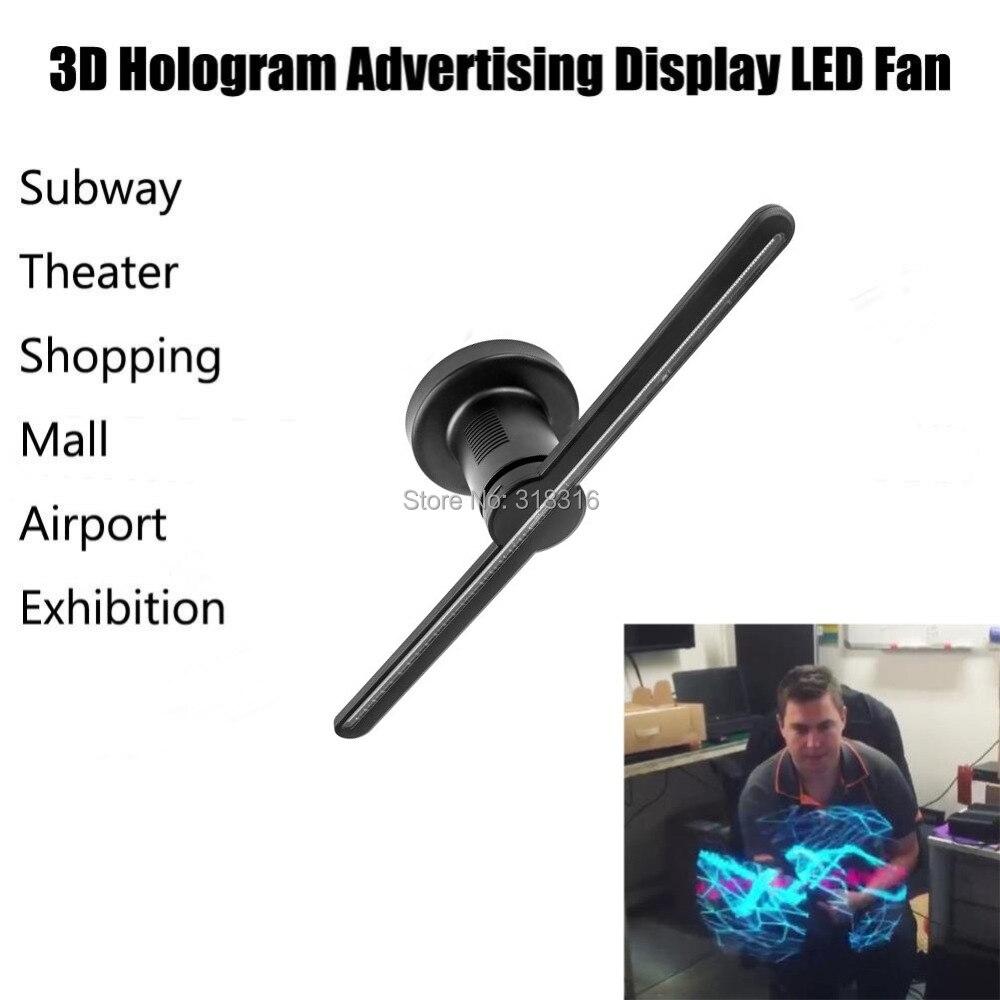 Support Hologram Display 3D LED Fan For Advertising 42cm