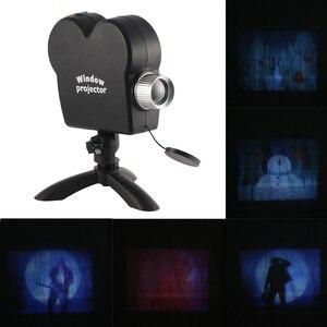 Image 2 - Witryna Laser DJ lampa sceniczna boże narodzenie reflektory projektor Wonderland 12 filmów lampa projektora impreza z okazji halloween Lights