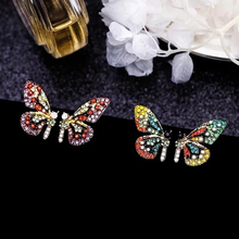 Crystal Women Necklace Earrings Personality Beautiful Butterfly Earring Necklace Hairbands Hairpin Elegant Sets Vintage Colorful hollowed filigree butterfly necklace and earrings