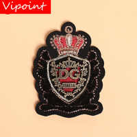VIPOINT Toothbrush embroidery metal patch letter leaf crown patches applique clothes jacket badge patches for clothing X-30