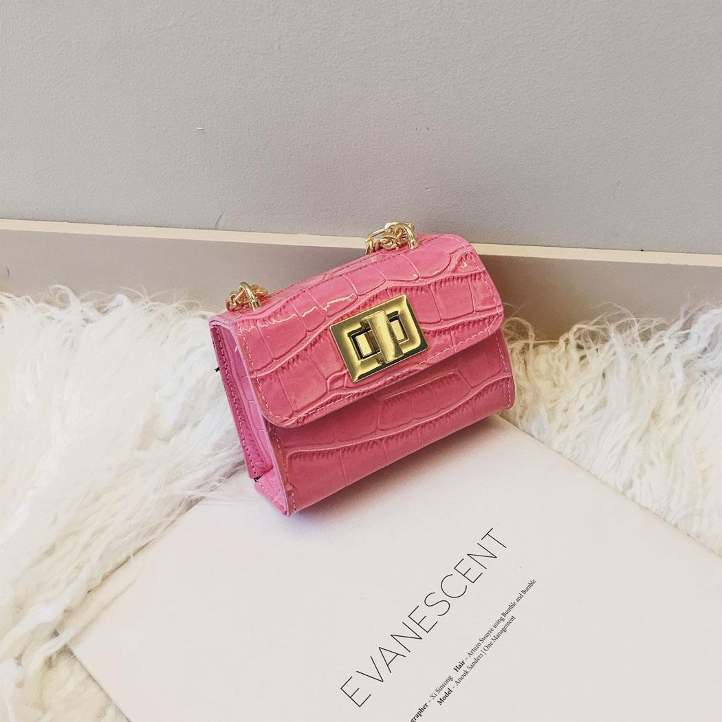 Handbag Nylon Money-Bag Square Clutch Versatile Mini Fashion Hasp Solid Girl Children