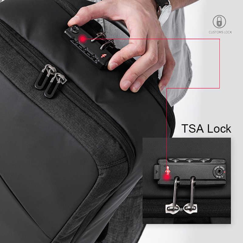 """מחשב נייד תיק עם TSA מנעול עמיד הלם 15.6 """"מחשבים ניידים תרמיל חיצוני נסיעות פנאי מחשב שקיות עבור Macbook Air Pro 13 lenovo Hp"""