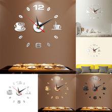 d4aa3f0e5 3D كبيرة ساعة حائط مرآة ملصق كبير ووتش ملصق لتزيين المنزل فريد هدية DIY (China