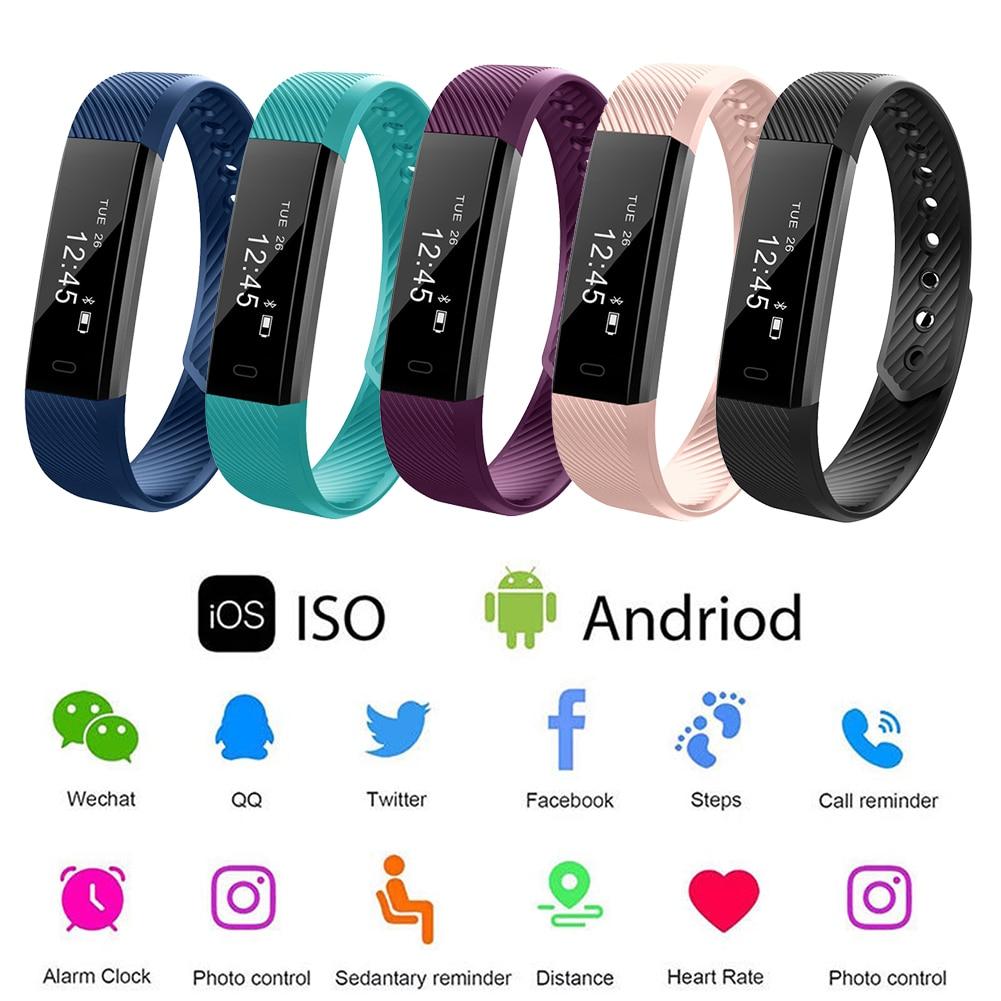 Pedometer Smart-Bracelet Tracker Fitness Health Running Walking Sleep 5 Outdoor Heart-Rate-Monitor