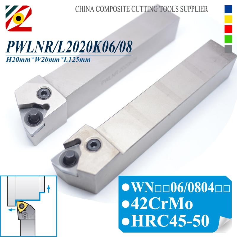 EDGEV Tool Holder PWLNR2020K06/08 PWLNL2020K06/08 CNC Metal Lathe Accessories External Turning Toolholder For WNMG0604 WNMG0804