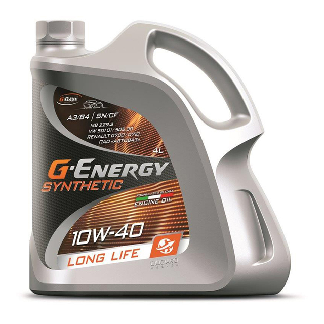 Масло моторное G-Energy Synthetic Long Life 10W-40 4 литра