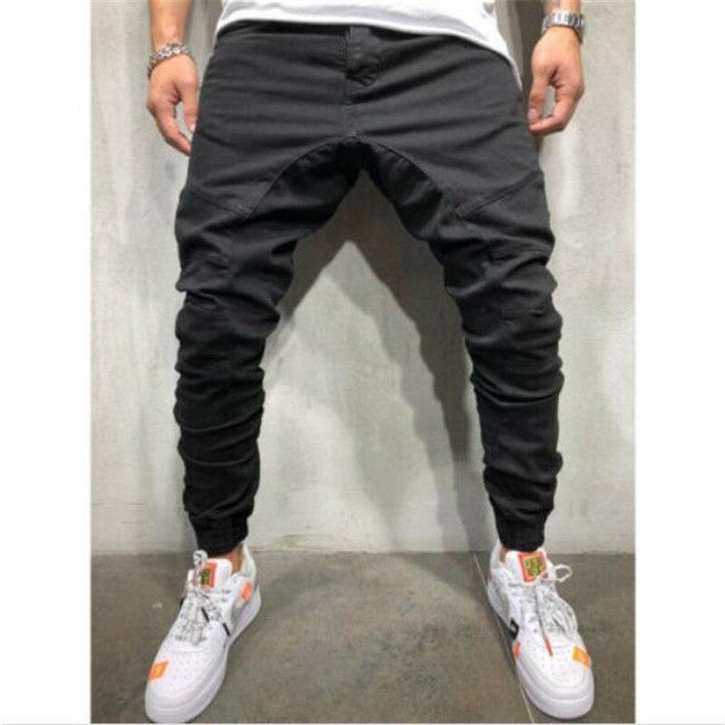 Men Long Casual Sport Pants Gym Slim Fit Trousers Running Joggers Gym Sweatpants Fashionable Soild Color Long Pants Hot Selling