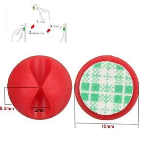 Image 5 - 30pcs רכב שולחן קיר USB חוט כבל קו אטב קליפ קליפים מחזיקי ארגונית מייצבת מהדק מלחציים עניבת קווים קבוע