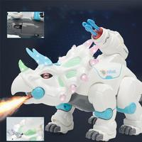 Xmas kids gift Brinquedos RC Electric Triceratops Dinosaur Dance Song Combat Remote Control Electric Robot Pets Toys
