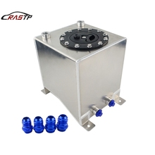 RASTP-New Universal 10L Aluminum Fuel Surge Tank Mirror Polish Cell Without Sensor RS-OCC021