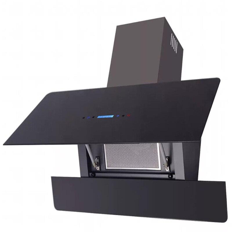 VidaXL Вытяжка с 3 уровнями скорости сенсорный дисплей черный 900 мм бытовой цифровой дисплей сенсорный контроль масла поглотитель дыма