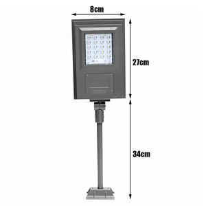Image 4 - Smuxi 20W Solar Powered Street Light Walkway Light With Remote Controller With Bracket Outdoor Garden Security Lamp