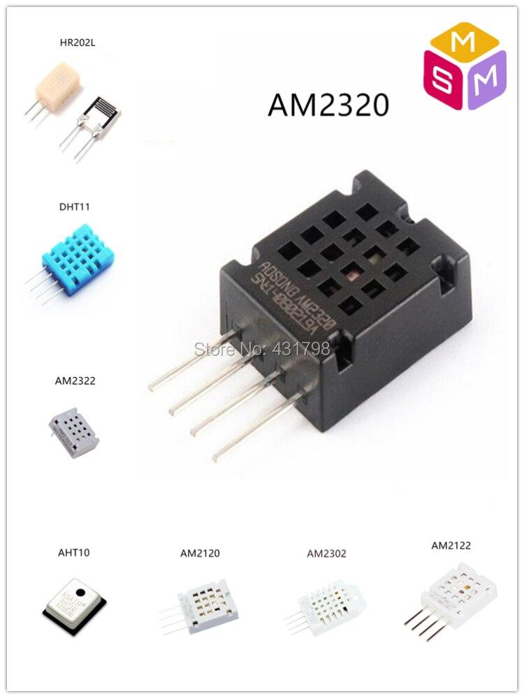 AIoT AM2320/AM2302/AHT10/DHT11/AM2122/AM2120/AM2322/HR202L Digital  temperature and humidity sensor sensitive capacitor module