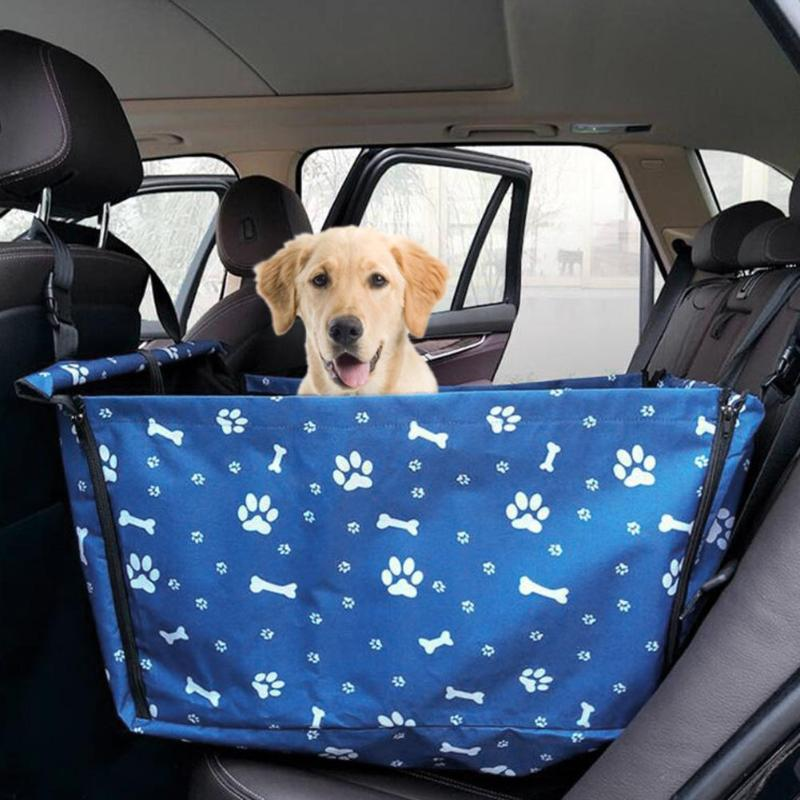 Portable Waterproof Pet Dog Puppy Cat Car Safe Seat Pad Travel Folding Bag Carrier Box Safe Carry House Cats Travel