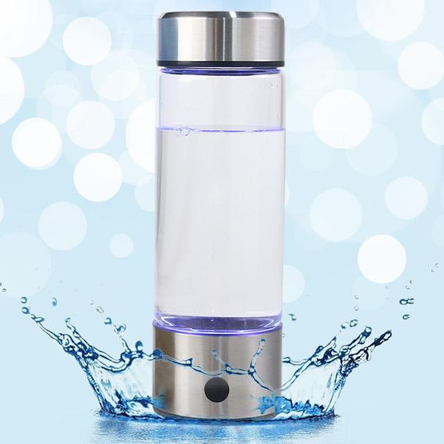 Adoolla 420ML Portable Electrolysis Hydrogen Generator Water Filter Bottle Glass 1