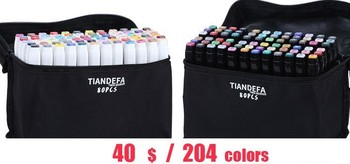 204color Both Head Marc Sheath Of A Pen Dress Student Use Oiliness Colour Hand Comic Pop Special-purpose  Beginner Marc Pen