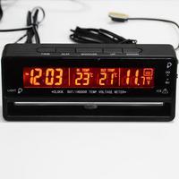 3 в 1 цифровой ЖК-дисплей авто часы термометр Вольтметр с подсветкой автомобильные аксессуары напряжение температурный монитор дисплей час...