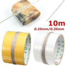 10 m di Lunghezza DIY Affrontare Taglio Seghe Lame 0.35 millimetri Diamante di Taglio Filo di Filo di Metallo Diamante Smeriglio Giada Pietra Metallo di vetro