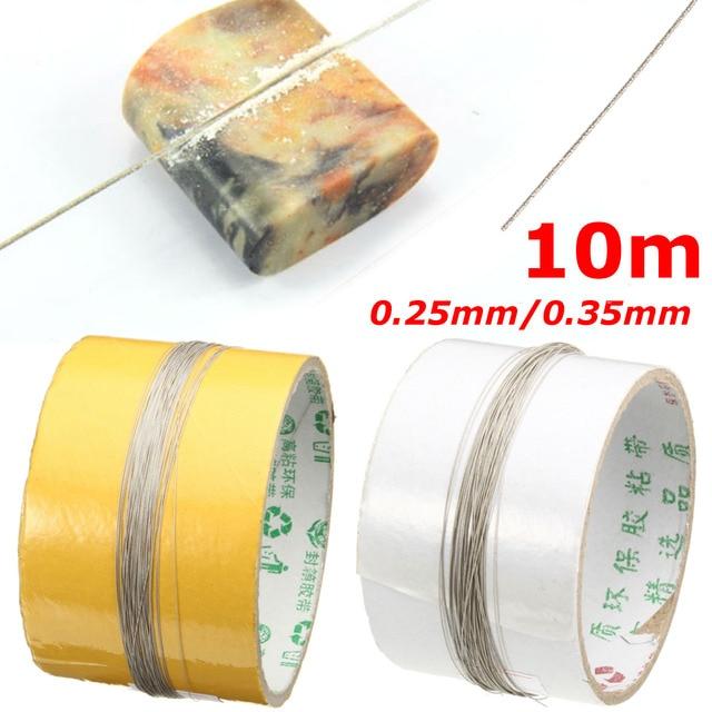 10m Length DIY Coping Cutting Saw Blades 0.35mm Diamond Cutting Wire Metal Wire Diamond Emery Jade Metal Stone Glass