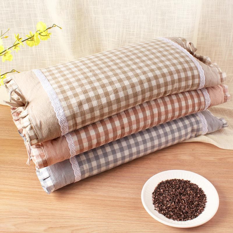 Pillows Home Texitle Pillows Buckwheat Hard Wheat Pillow Neckhealth Fabric Buckwheat Cover Husk Filled Pillow Relieving Heat And Thirst. Decorative Pillows