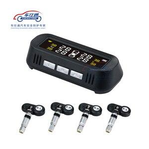 Image 1 - Auto TPMS monitoraggio della pressione dei pneumatici sistema di energia solare TPMS supporto Inglese di voce Interno Esterno sensore di pressione dei pneumatici