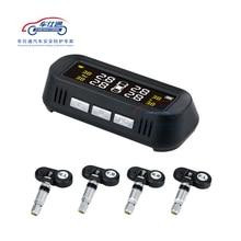 Auto TPMS tire pressure monitoring system Solar power TPMS unterstützung Englisch stimme Interne Externe reifendruck sensor