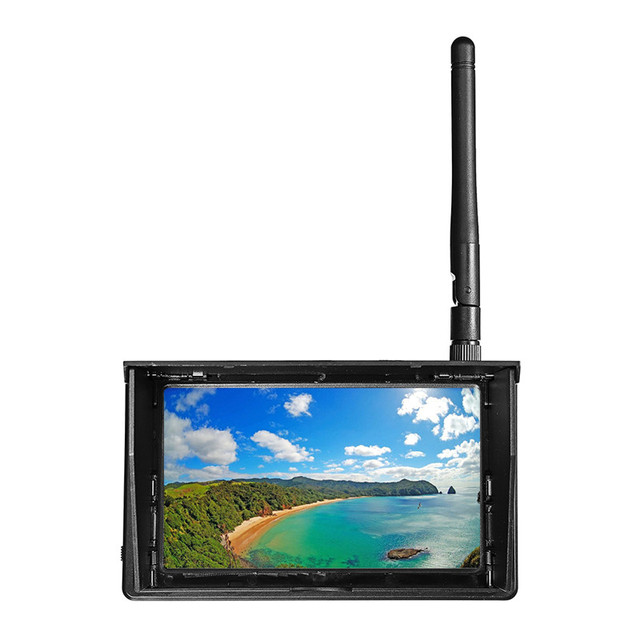 5.8G 48CH 4.3 pouces LCD 480x22 16:9 NTSC/PAL recherche automatique FPV moniteur avec batterie intégrée OSD pour RC Multicopter FPV Drone partie