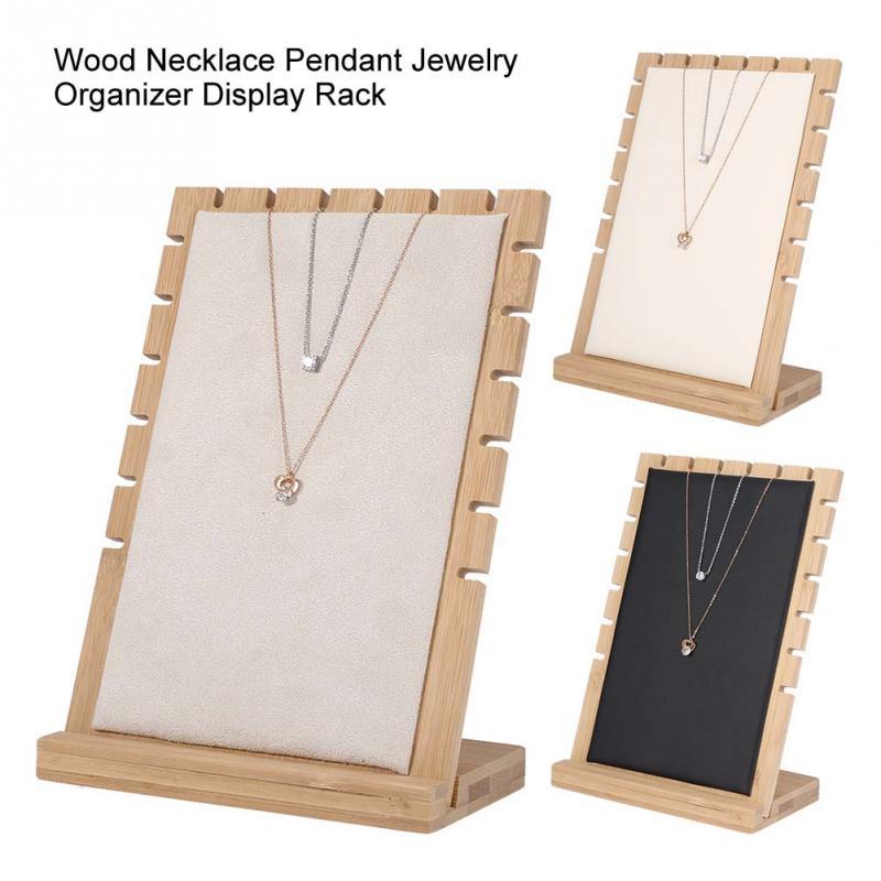 Kreative Holz Armband Halskette Anhänger Schmuck Organizer Display Halter Stehen Zeigt Rack Schmuck Halter Regal Schaufenster