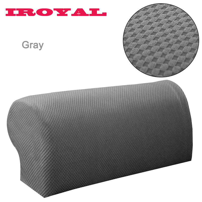 Iroyal 2pcs Knitted Jacquard Thick Fabric Sofa Armrest