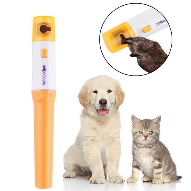 Electric Pet Painless Nail Clippers For Dogs Cats Pets Claw Paw Nail Scissor Trimmer Cut Pet Grinding Grooming Kit