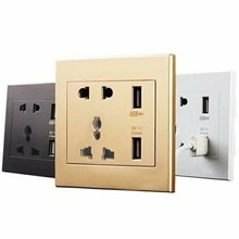 Universal Standard 2.1a Usb Wall Socket Home Wall Charger 2 Ports Usb Outlet Power Charger For Phone White/black/gold shierak universal standard 2 1a usb wall socket home wall charger 2 ports usb outlet power charger for phone white black gold