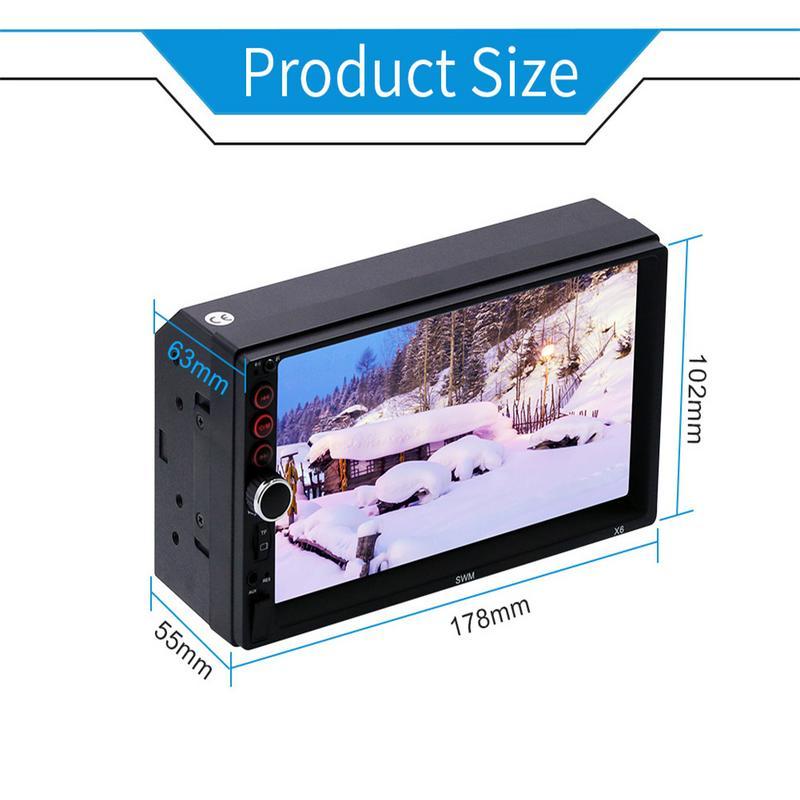 7 pouces Bluetooth stéréo écran tactile Radio 2 DIN MP5 lecteur voiture lecteur multimédia prend en charge IOS Android connexion d'image - 5